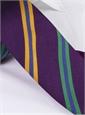 Silk Multi-Striped Tie in Eggplant