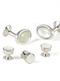 Oval Mother of Pearl Formal Wear Set
