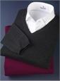 Ladies Spread Collar White Cotton Stretch Shirt