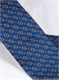 Silk Horse Motif Tie in Royal Blue