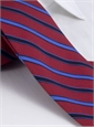 Silk and Wool Multi-stripe Tie in Red