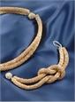 Gold Knot Necklace and Bracelet