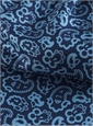 Silk Print Paisley Ascot in Pacific and Navy