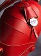 Leather Shell Handbag in Red
