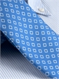 Silk Diamond Motif Tie in Cobalt