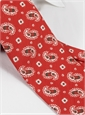 Silk and Linen Printed Paisley Tie in Apricot