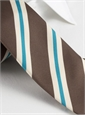 Mogador Silk Stripe Tie in Mocha
