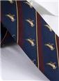Silk Woven Duck Motif Tie in Navy