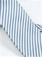 Silk Striped Tie in White and Sky
