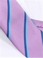 Silk Double Stripe Tie in Lavender