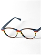 Silver Line Multi-Colored Handmade Frame in Brown, Blue & Red