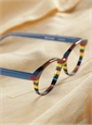 Multi-Colored Handmade Frame in Brown, Blue & Red