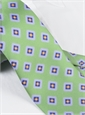 Silk Printed Tile Motif Tie in Lime