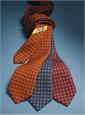 Wool & Silk Printed Neat Tie in Blue