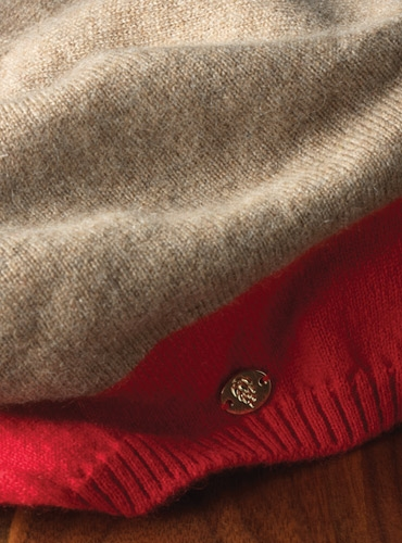 e6d551a95ba98 Ladies Cashmere Beret in Ginger and Red. mouse over the thumbnails for  alternate views. Preload Preload Preload