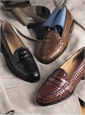 The Woven Loafer in Chestnut