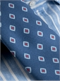Silk Print Diamond Tie in Regal