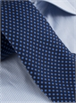 Silk Print Polka Dot Tie in Navy