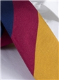Silk Block Stripe Tie in Saffron, Fire, and Navy