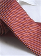 Basketweave Tie in Orange, Red & Sky