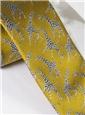 Silk Woven Giraffe Motif Tie in Marigold