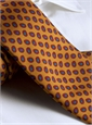 Printed Neat Tie in Gold