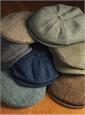 Wool Halifax Cap in Regal and Sky Herringbone