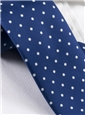 Silk Print Dot Motif Tie in Navy