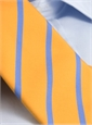 Mogador Bar Stripe Tie in Saffron