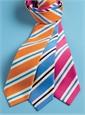Mogador Silk Stripe Tie in Tangerine