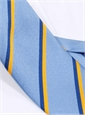 Silk Double Stripe Tie in Sky