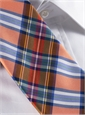 Silk Woven Plaid Tie in Clementine
