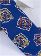 Silk Print Floral Tie in Royal Blue