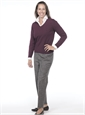 Ladies Grey and White Donegal Tweed Trousers