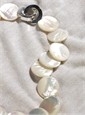 White Mother of Pearl Coin Shape Beads