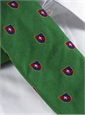 Silk Fanciful Crest Tie in Kelly