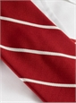 Mogador Thin Bar Stripe Tie in Red