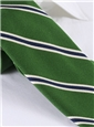 Mogador Woven Stripe Tie in Kelly Green
