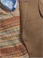 Nut and Cream Herringbone Wool Sport Coat