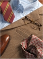 Nut and Cream Herringbone Wool Sport Coat