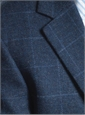 Storm Blue Lambswool Sport Coat with Contrasting Windowpane