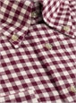 Brushed Cotton Wine and Cream Gingham Buttondown