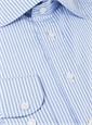 Blue Bengal Stripe Spread Collar
