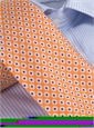 Silk Print Small Diamond Tie in Copper