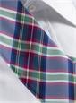 Silk Woven Plaid Tie in Marine