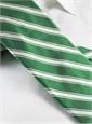 Silk Woven Double Stripe Tie in Kelly