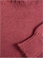 Alpaca and Silk Crewneck Sweater in Raspberry