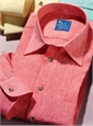 Red Charleston Linen Shirt