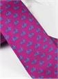 Silk Bicycle Print Tie in Magenta