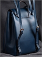 Leather Backpack in Royal Blue